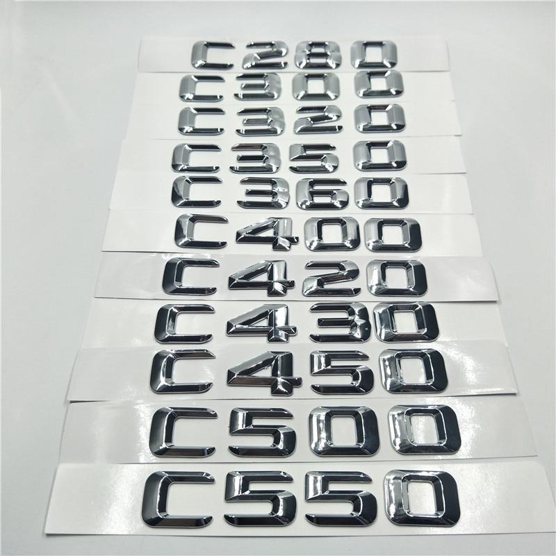Tampa da Mala traseira Número Letters emblema do Emblema Do Logotipo Para Mercedes Benz C Class C280 C300 C320 C350 C360 C400 C420 W203 w204 W211 W205