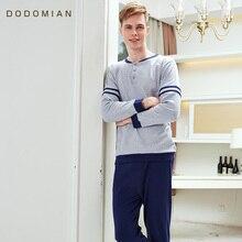 가을 남성 잠옷 섹시 란제리 남성 잠옷 100% 코튼 피자 마 hombre 잠옷 세트 남성 홈 의류 나이트 셔츠 + 바지