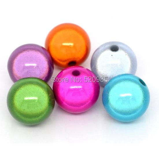 Высококачественные акриловые объемные шарики-разделители, смешанные цвета, 4, 6, 8, 10, 12 мм, NO. MB01