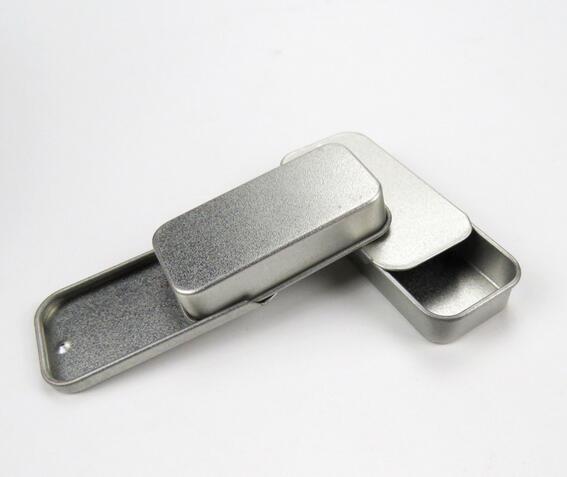 10 pçs/lote Sobrevivência Kit de Lata Pequena de Prata Vazia de Metal Organizador Caso Caixa de Armazenamento Para O Dinheiro Da Moeda Doces Chaves