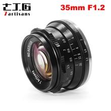 7artisans 35mm F1.2 objectif principal pour Sony e-mount/pour Fuji XF APS-C appareil photo sans miroir mise au point manuelle objectif fixe A6500 A6300 X-A1