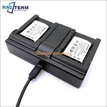 2x batterie EN-EL11 et 1x chargeur double USB pour appareils photo numériques Nikon Coolpix S550 et S560