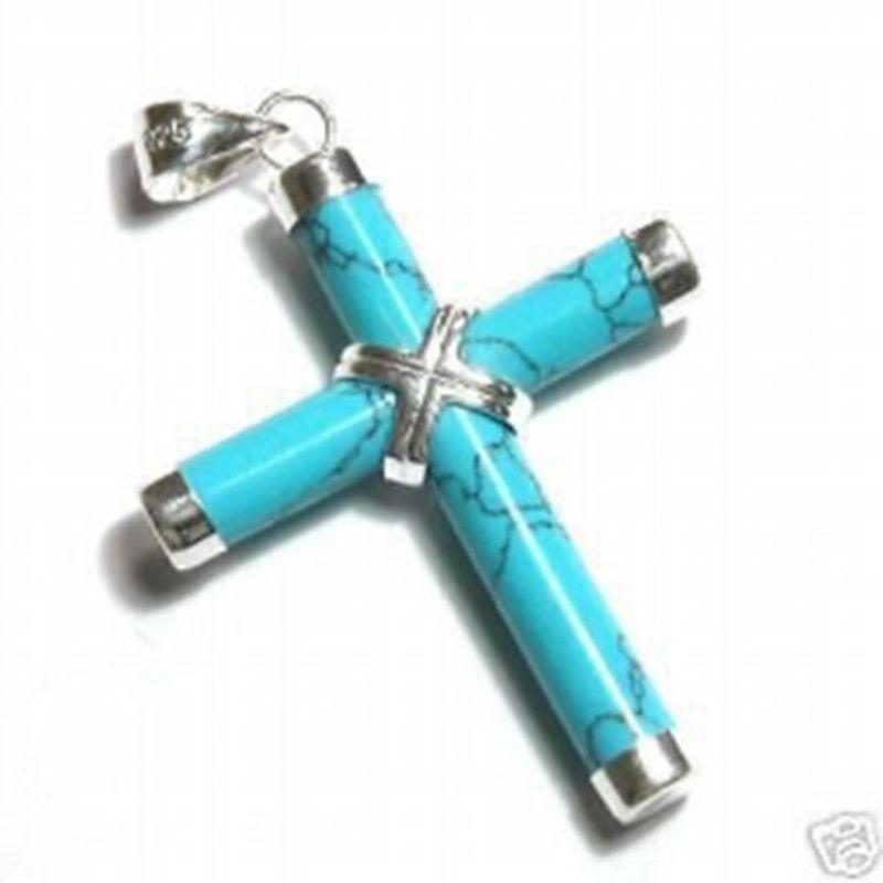 Venda quente novo estilo>>>>>noblest 18kgp colar de pedra fina pingente cruz livre