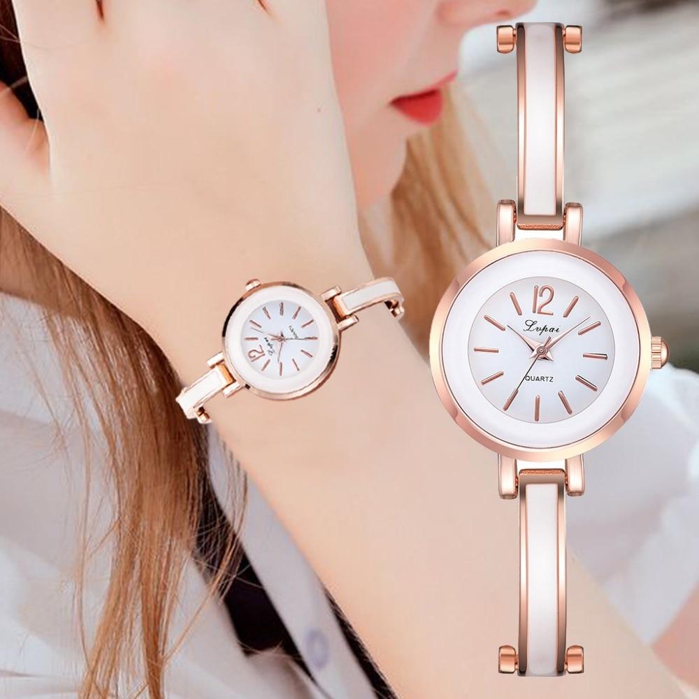 Lvpai Brand Women Bracelet Watches Luxury Rose Gold Wristwatches Ladies Fashion Casual Quartz Watch Female Clock montre femme