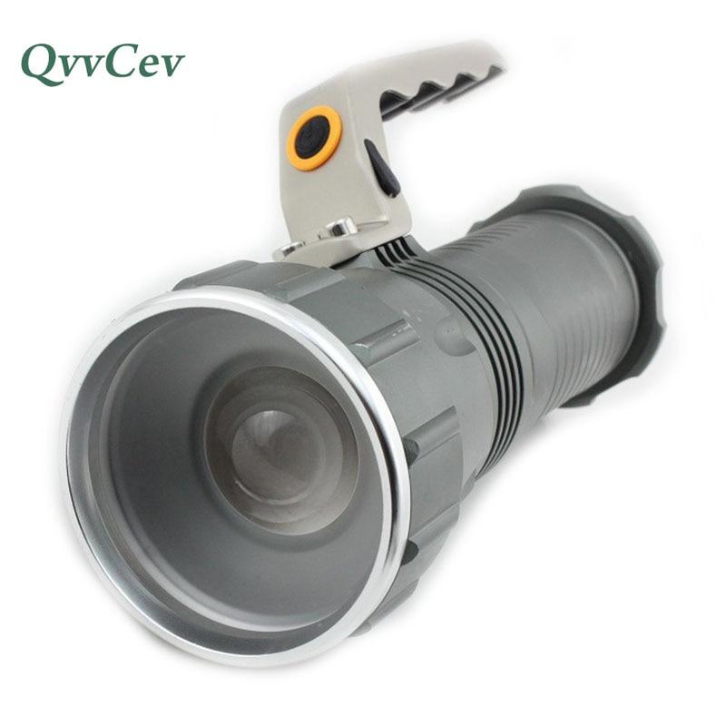Lámpara Led portátil de búsqueda Xml-T6 linterna Led de largo alcance linterna de luz flash linterna de enfoque con zoom potente reflector de caza