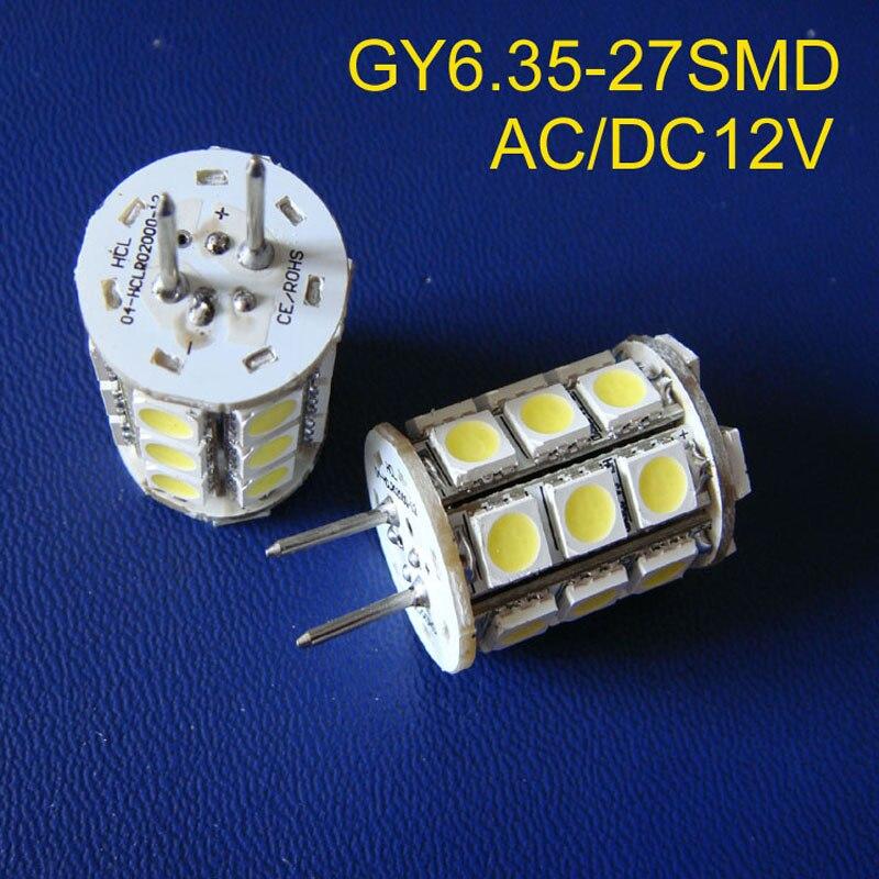 Alta calidad AC/DC12V GY6.35 led iluminación, led GY6.35 lámpara, GY6.35 LED Downlights,12vac lámpara LED de cristal envío gratis 50 unids/lote