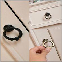 Yeni varış 5 tip Vintage kabin tutamakları çekmece Dresser kapı kutusu dolap damla halka çeker kolu yüksek kalite