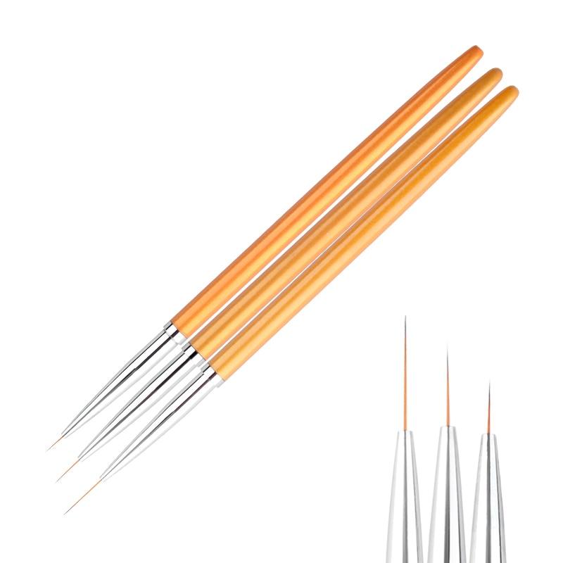Tignish 3 unids/set uñas arte dibujo pintura tallado revestimiento diseño pluma acrílico UV Gel cepillo herramientas de manicura