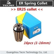 Jeu de mandrin à pince ER25 de 1mm à 16mm pour outil de fraisage de CNC et moteur de broche