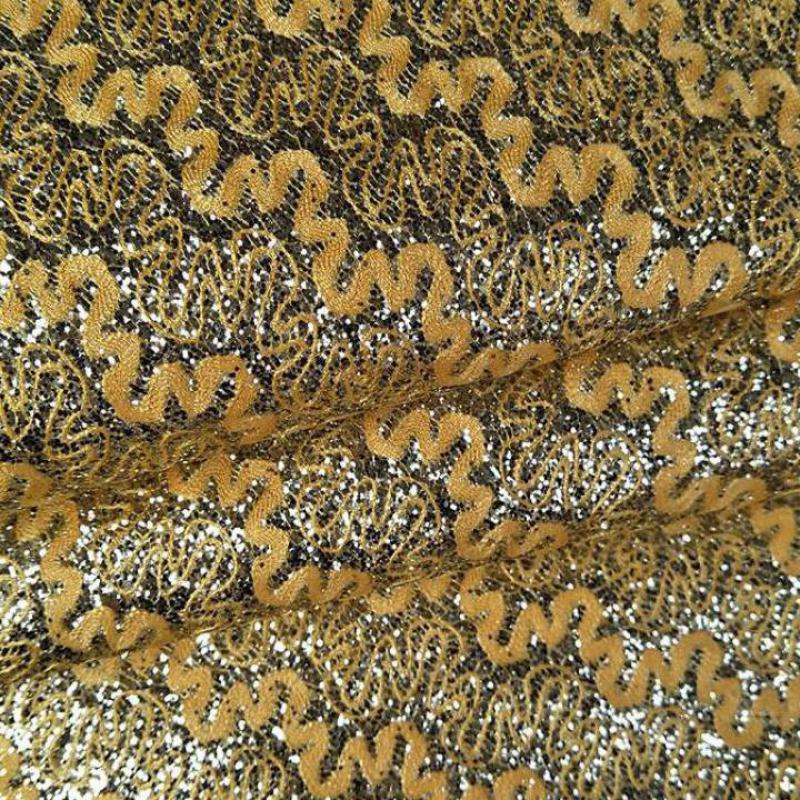 Tela de polipiel con purpurina dorada de 1 metro, Tela de tapicería...