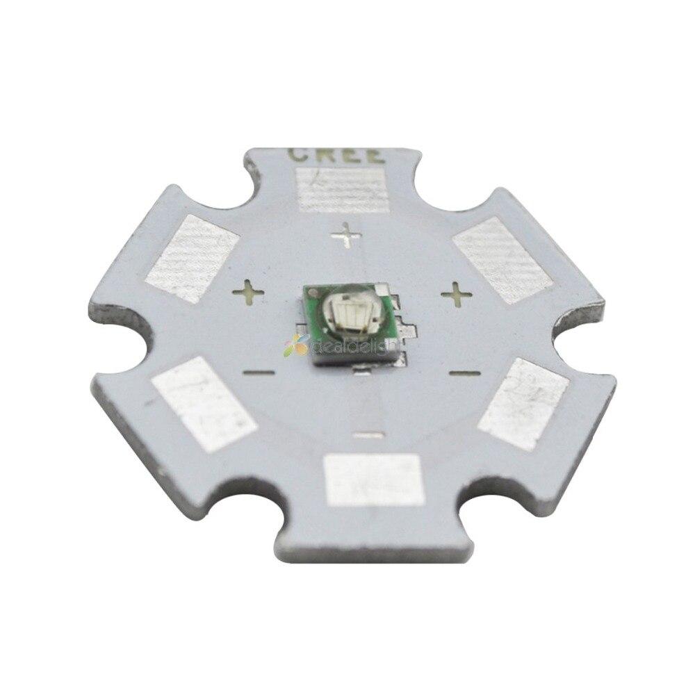 10 Uds Cree XLamp XPE XP-E azul 470-480NM 1-3W LED emisor bombilla con 8mm 12mm 14mm 16mm 18mm 20mm, PCB