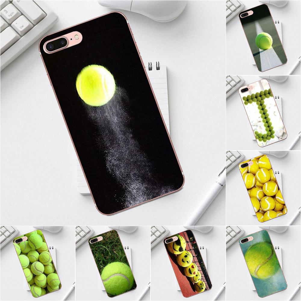 Qdowpz verde pelotas de tenis para Galaxy Core Prime Nota 4 5 8 S3 S4 S5 S6 S7 S8 S9 diseño de TPU suave mini edge Plus personalizado
