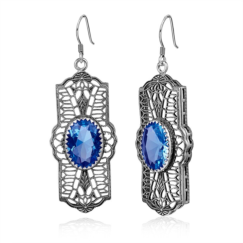 Bohemia vintage brincos femininos 925 prata esterlina jóias finas eardrops laboratório topázio peridot pedra senhora festa de casamento longo brinco