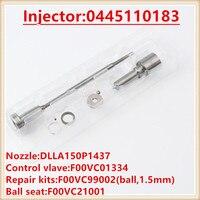 0445110183 / 0986435102 Injector Diesel Injetion Repair Kits DLLA150P1437 Valve F00VC01334