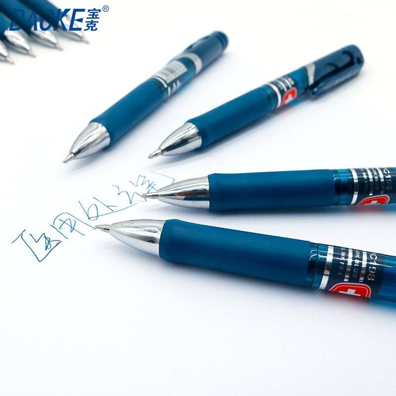 Ручка BAOKE, 6 шт./компл., 0,5 мм, гелевые ручки для медсестер, синие чернила, фирменные медицинские пластиковые ручки для школы, офиса, канцелярские принадлежности