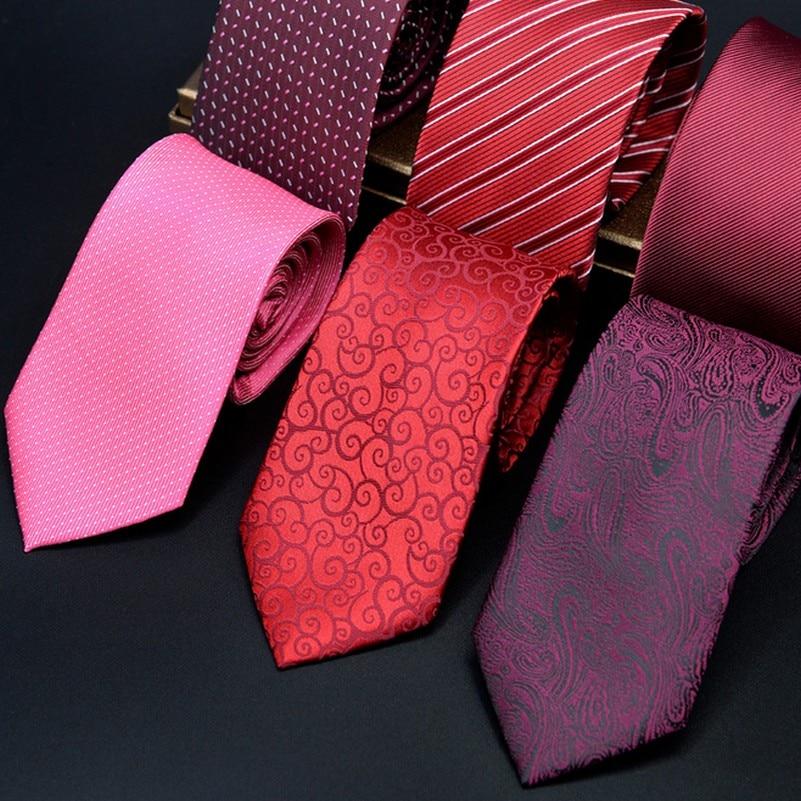 Corbatín de fiesta elegante para hombre rojo púrpura nueva sección de bordado de impresión para hombre de lujo boda Gravata