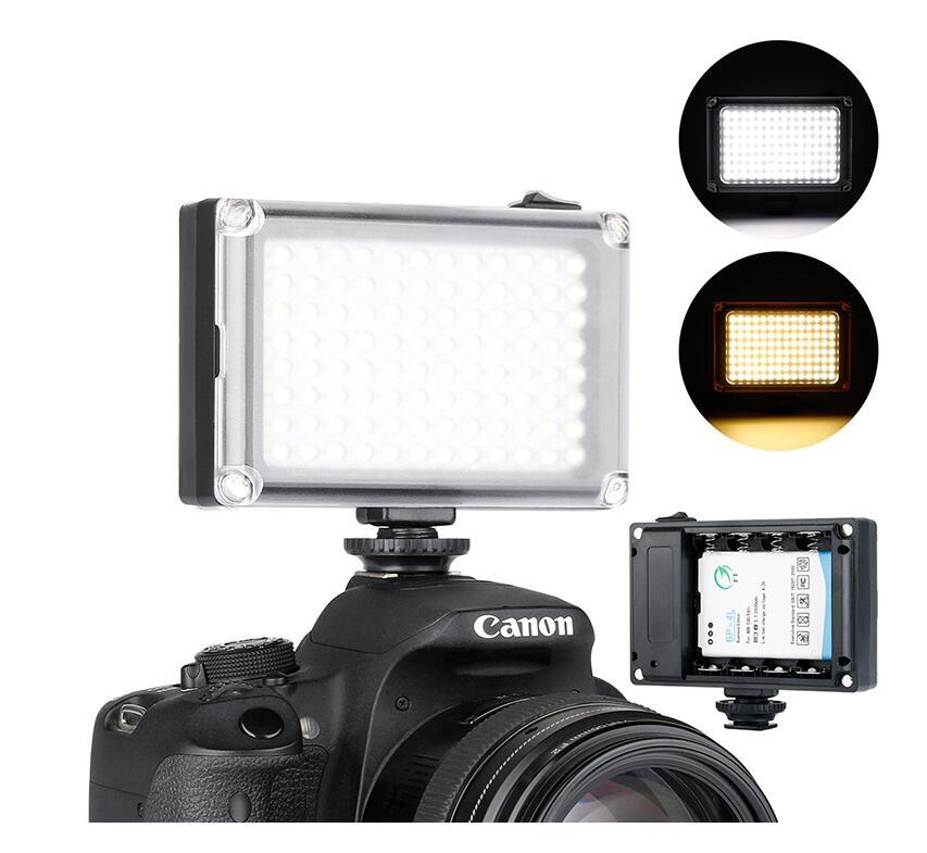 96LED lámpara cámara de fotografía luces cámara SLR de la boda y disparar entrevista noticias Luz de relleno para videocámara Canon Nikon