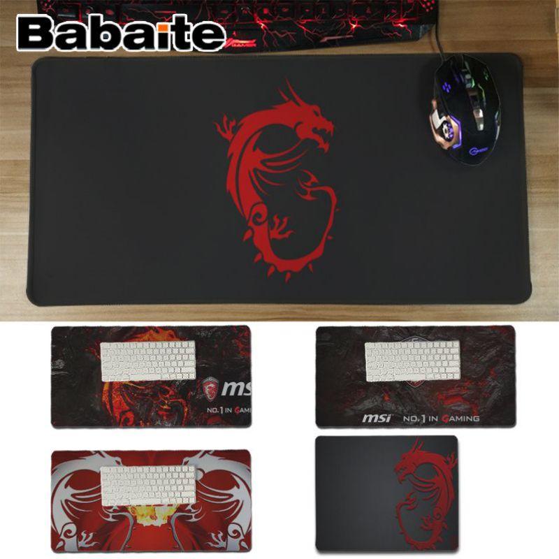 Babaite New Design Msi Dragon Logo Unique Desktop Pad Game Mousepad Free Shipping Large Mouse Pad Keyboards Mat