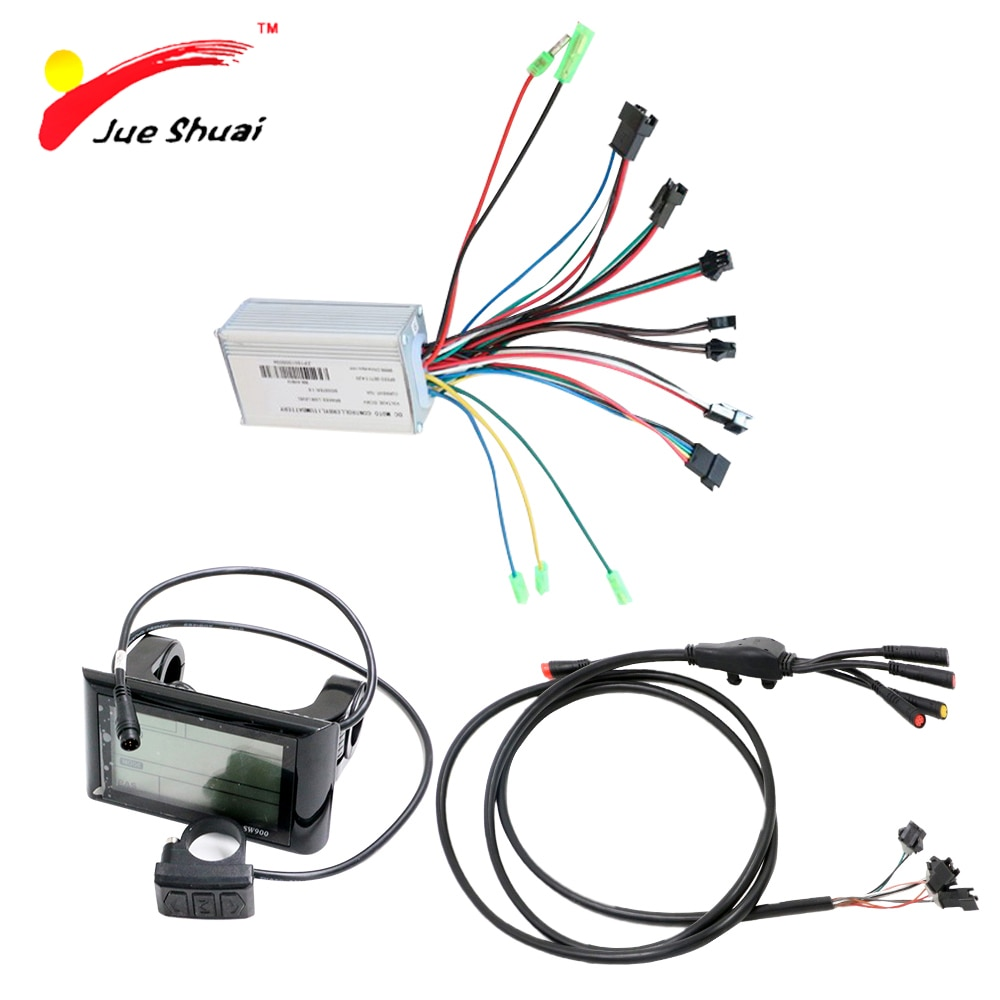 Eléctrico kit de Bicicleta 36V 350W 500W LED pantalla LCD Ebike controlador...