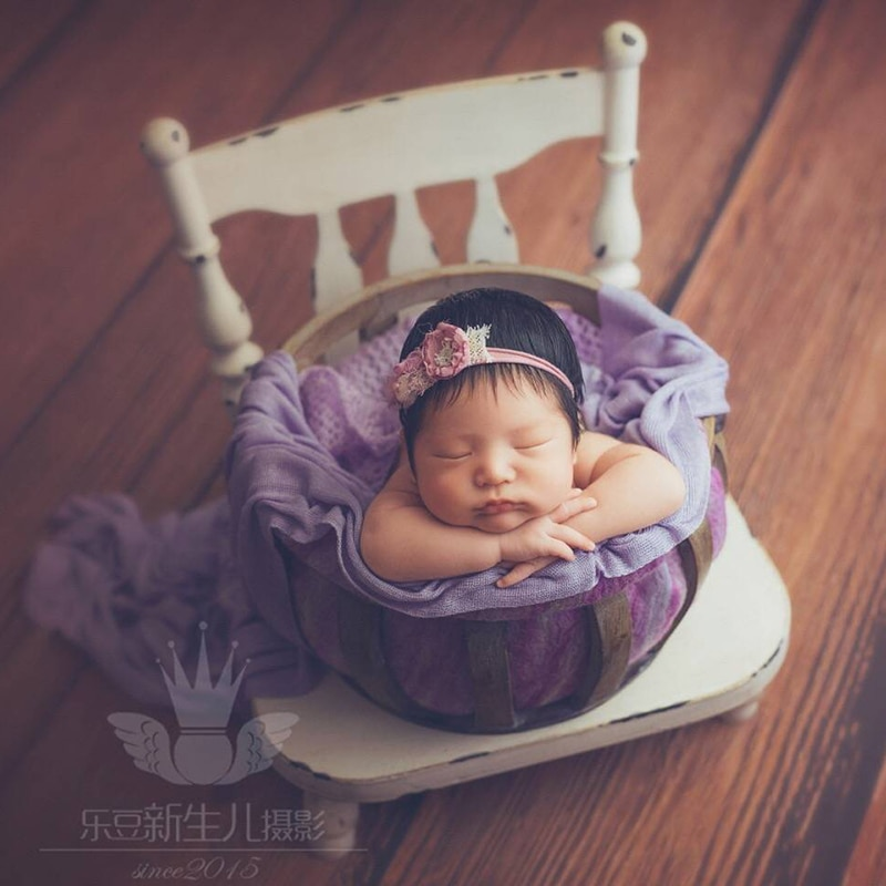 Newborn Baby Photography Studio Detachable Chair Props Infant bebe fotografia Accessories Baby Girl Boy Photo Shoot Iron Basket