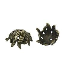 "Zinc metal alloy Beads Caps Flower Antique Bronze (Fits 16mm Beads) 17mm( 5/8"") x 15mm( 5/8""), 5 PCs new"
