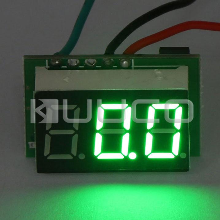 5 PCS/LOT DC 12V 24V Voltage Monitor Panel Meter Ultra Small Digital Voltmeter DC 0~100V Voltage Meter Green Led Volt Meter