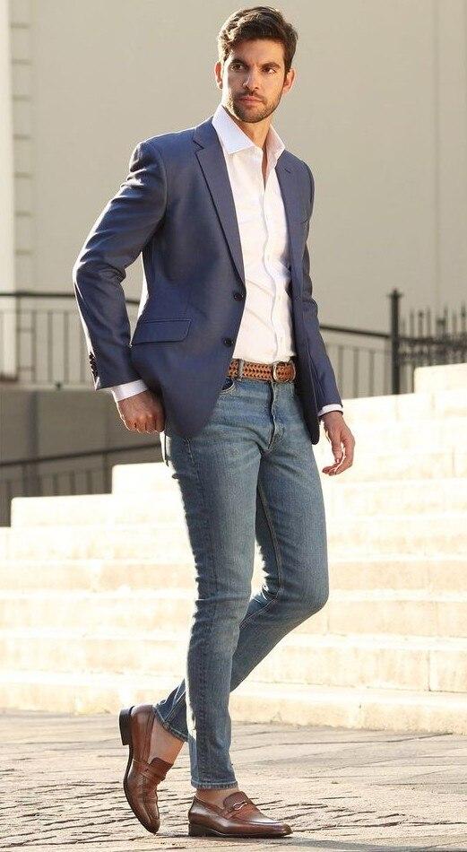 Летний повседневный мужской блейзер уличная одежда приталенный деловой пиджак