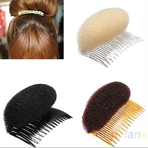 3 pçs/lote Hair Styler Volume Bouffant Beehive Shaper Rolo Bumpits Bump Espuma Em Limpar Comb Acessórios Xmas 02CO 47G6