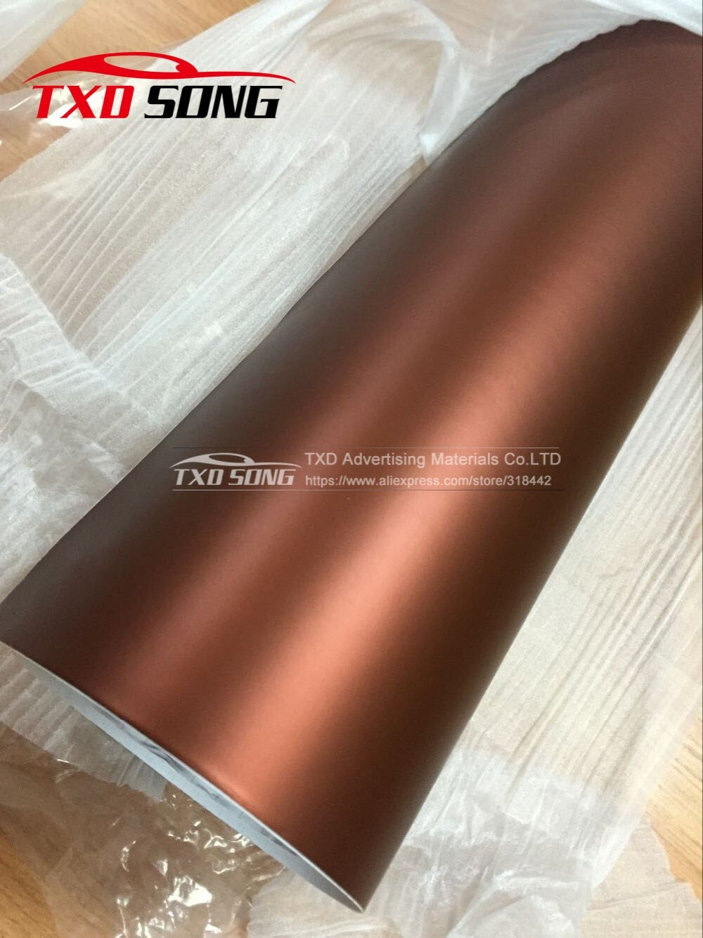 10/20/30/40/50/60X152CM/LOT métallisé brun chrome mat film demballage chrome voiture film brun chrome mat vinyle film