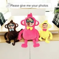 provide photo the monkey cushion real human pillows christmas decorations diy gift birthday valentines day personality