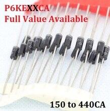 20PC P6KE150CA P6KE180CA P6KE200CA P6KE220CA P6KE250CA P6KE300CA P6KE400CA P6KE440CA 150/180/200/220/250/300/400/440CA Diodes TVS