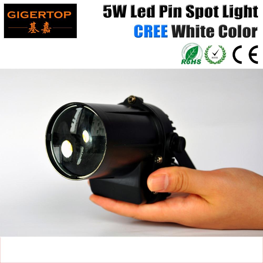 Gigertop 5W Cree LED Pinspot Light TP-E19 Mini Glass Ball Light * LED Disco Crystal Ball Mirror Stage Lighting Effect