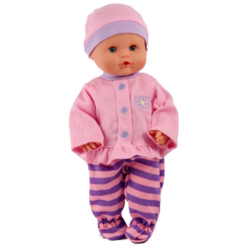 Ropa de muñeca ajuste 35cm Nenuco muñeca Nenuco y su Herman 13 pulgadas accesorios de muñeca camiseta rosa púrpura pantalones combinados para muñeca Nenuco