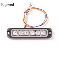 Bogrand Led Flash Car Strobe Light 18w Flashing Light Led Hazard Emergency Lights For Trucks 6leds Grille Warning Light Bar