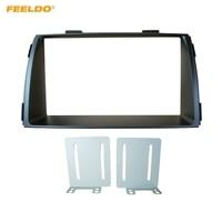 FEELDO 2Din Car Refitting DVD Radio Fascia Frame for KIA Sorento 2012+ Dashboard Installation Mount Frame Panel Trim Kit #HQ5167
