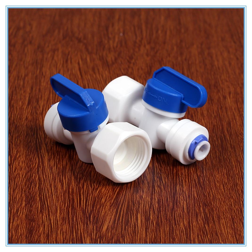 """RO Water Straight 1/4 """"OD Slang 1/2"""" Bsp Snelkoppeling Fittingen Plastic Kogelkraan Reveser Osmose Fitting"""
