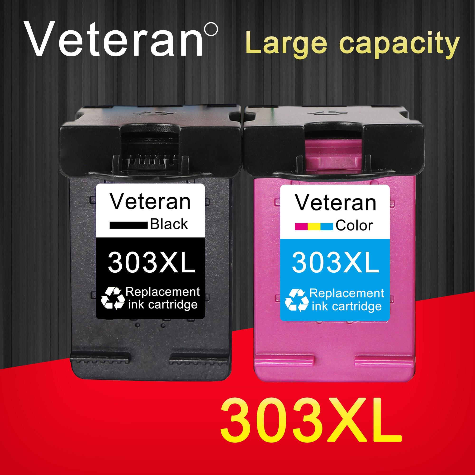 Veteran 303XL Cartridge Compatible for hp 303 xl Ink Cartridges hp303 for Envy 6020 6030 6220 6230 7120 7130 7134 7830 printer