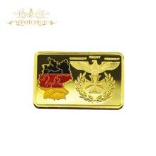 Deutsche Iron Cross Eagle 24 k Vergulde Bullion Bar Duitse Kaart Bundesrepublik Gold Bar Custom Voor Promotie