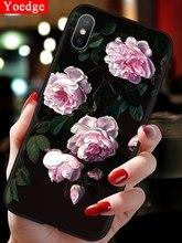 3D Emboss TPU Case For Xiaomi Mi 9 SE 8 Lite 9T A1 A2 A3 CC9 CC9e F1 For Redmi 7A 6A S2 Note 7 5A 5 6 Pro Plus Flower Matte Case