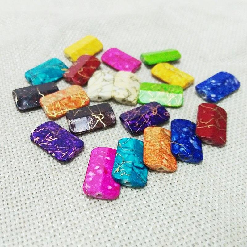 Pendientes rectangulares, collar de borlas, cuentas de acrílico, Conector de filigrana, diadema, kit de lazo, bolso, abalorios de gota, decoración