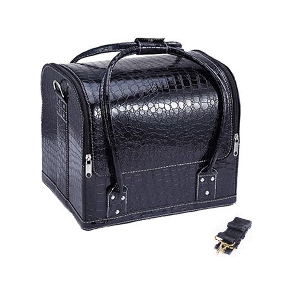 Bolsos de maquillaje para mujeres estuches cosméticos moda PU cuero de lujo cocodrilo viaje profesional estuche cosmético gran capacidad #730