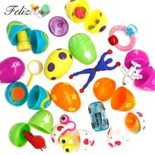 Oeufs de pâques remplis 12 jouets   Oeufs Surprise, mesure 2 pouces, grande pour la chasse aux œufs de pâques, fournitures cadeaux pour fête de pâques, Pinata
