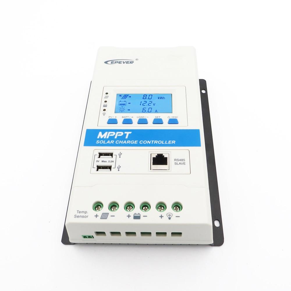 Regulador de carregador de bateria 40 a ampères triron4210n trimon4215n série mppt modular controlador de carga solar usb