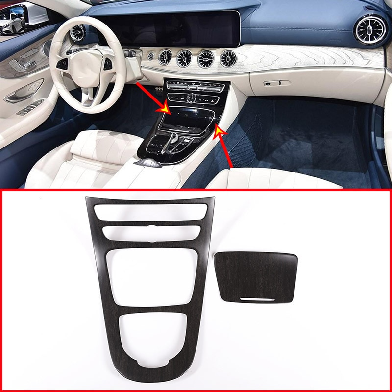 7 Styles for Mercedes Benz E Class W213 CLS 2016-2021 Car Center Console Gear Panel Frame Cover Trim Stickers Car Accessories