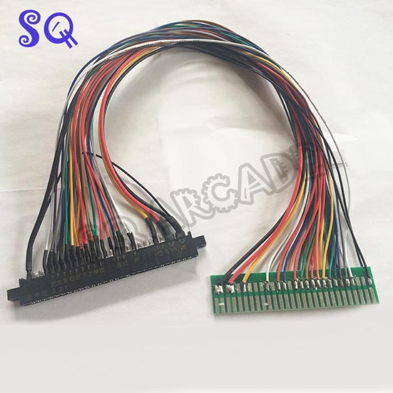 100cm/50cm Jamma harness extender/arcade accessories/extended wire/cable/parts for arcade game machine /Coin operator machine