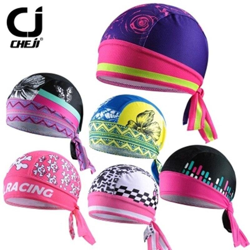 Cheji chapéu de bicicleta ciclismo capacete boné meninas vermelho rosa cabeça da bicicleta cachecol pirata feminino mtb equipe bandana headwear