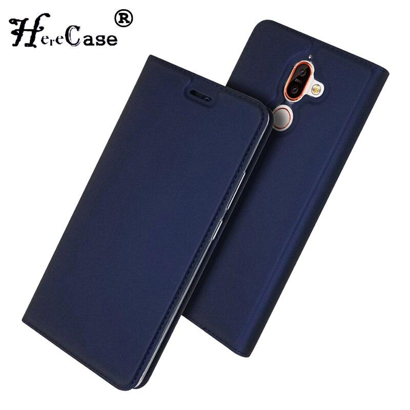 Para Nokia 7 Plus funda suave PU soporte cubierta de libro ranura para tarjeta Cartera de cuero Flip Case para Nokia 7 Nokia7 Plus 2018 funda de teléfono Coque