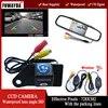 FUWAYDA – caméra de recul CCD pour voiture étanche sans fil avec moniteur de rétroviseur 4.3 pouces pour Mitsubishi ASX RVR/Outlander Sport
