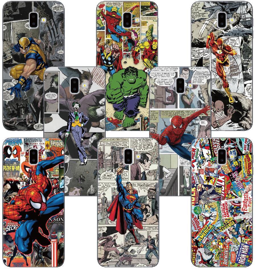 Marvel Comics Fundas TPU caso para Wiko Jerry Tommy 3 Harry Robby 2 U siento primer pulso Lite Kenny funda para teléfono arco iris