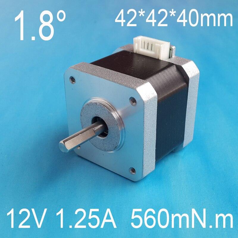 5 uds Nema17 Motor paso a paso 42*42*40 42 paso a paso Motor dc 12V 24V 36V 1.25A 560mN m motor para CNC XYZ certificación CE 4-plomo